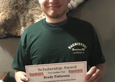 Bagniefski Scholarship Winner, Brady Patterson
