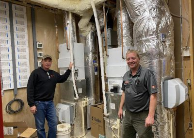 Tim Cavadini and Lance Aleckson Two high velocity A/C systems with hot water coils, air cleaners, and humidifiers.